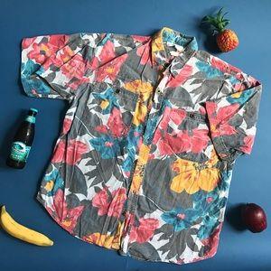 Vintage 80s/90s boutique brand tropical shirt